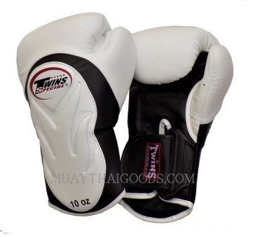 TWINS SPECIAL BGVL6 WHITE BLACK PALM MUAY THAI KICKBOXING GLOVES twins special discount