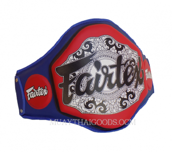 BPV3 PROTECTOR BELLY PAD MUAY THAI BOXE BLUE RED FAIRTEX