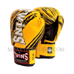 TW2 MUAY THAI BOXING GLOVES YELLOW BLACK TWINS SPECIAL