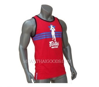 FAIRTEX TSHIRT MTT10 SLEEVELESS RED COTTON 100%