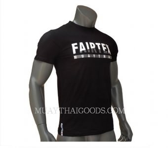 FAIRTEX TSHIRT TST129 MUAY THAI BLACK COTTON 100%