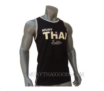 FAIRTEX TSHIRT MTT22 SLEEVELESS BLACK COTTON 100%