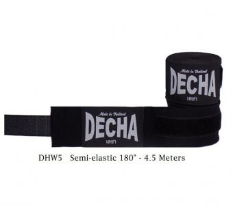 DECHA BLACK BOXING HAND WRAPS DHW5 SEMI ELASTIC 180″ / 4.5 M