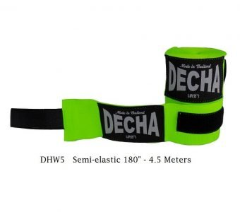 DECHA MUAY THAI GREEN FLUO BOXING HAND WRAPS DHW5 SEMI ELASTIC 180″ 4.5 M