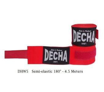 DECHA RED BOXING HAND WRAPS DHW5 SEMI ELASTIC 180″ / 4.5 M