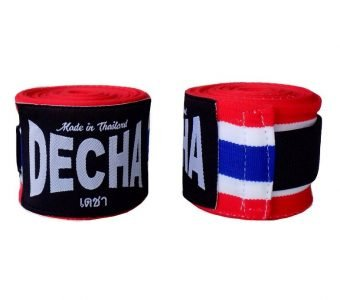 DECHA THAI FLAG BOXING HAND WRAPS DHW1 SEMI ELASTIC 180″ / 4.5 M