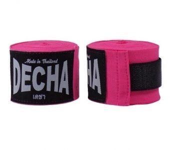 MUAY THAI BOXING HANDWRAPS PINK FLUO DECHA