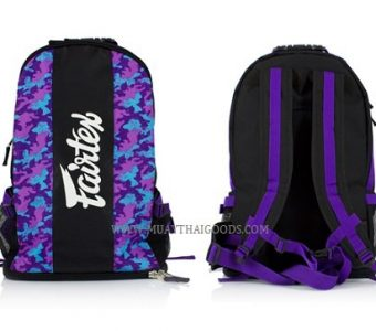 BAG4 MUAY THAI BOXING GYM BAG CAMOUFLAGE VIOLET FAIRTEX