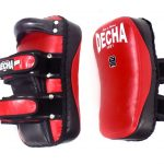 DECHA PROFESSIONAL GENUINE LEATHER CURVED KICKING PADS SHIN CONDITIONING FOREARM