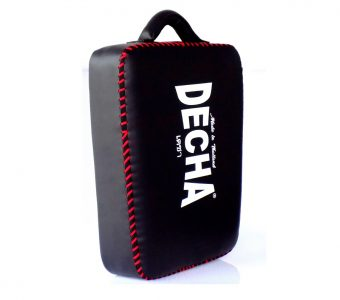DECHA LOW KICK SHIELD LIGHT WEIGHT MUAY THAI BOXING STYLE PAD BLACK/RED  DKSS2