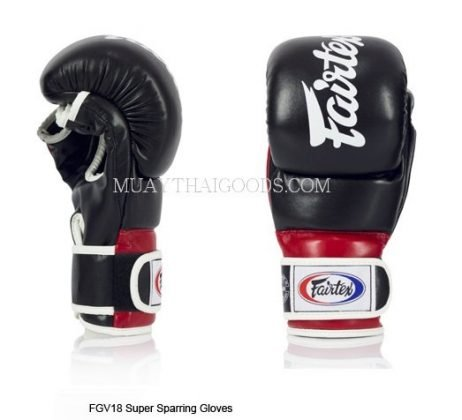 FAIRTEX MMA SPARRING GLOVES UFC FGV18 BLACK RED
