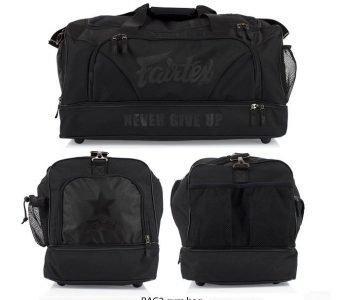 GYM BAG FAIRTEX BAG2 SUPER BLACK