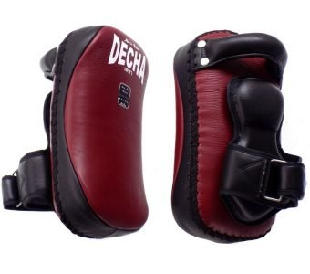 TWINS KPL12 DECHA PROFESSIONAL SMALL KICKING PADS THICK LEATHER DKPL12 FOREARM ANTI-SHOCK BURGUNDYBLACK