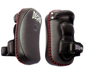 TOP KING DECHA PROFESSIONAL SMALL KICKING PADS THICK LEATHER DKPL12 FOREARM ANTI-SHOCK GRAYBLACK