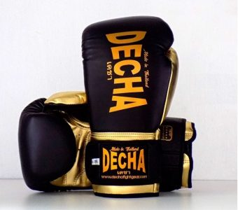"DECHA LEATHER MUAY THAI BOXING GLOVES TIGHT FIT DBGVL1 "" PRO PERFORMANCE 3.0"