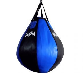 DECHA PRO TEAR DROP HEAVY PUNCHING BAG DHB10 BLACK/BLUE ( Unfilled )