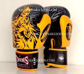 FBGV50 TWINS SPECIAL MUAY THAI BOXING GLOVES WOLF yellow