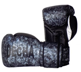 "DECHA LEATHER MUAY THAI BOXING GLOVES  TIGHT FIT DBGVL1 "" PRO PERFORMANCE 3.0 "" MARBLE LIMITED EDITION"
