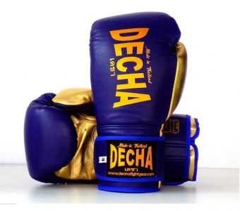 DECHA LEATHER MUAY THAI BOXING GLOVES TIGHT FIT DBGVL1