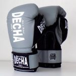 DECHA LEATHER MUAY THAI BOXING GLOVES TIGHT FIT DBGVL1 PRO PERFORMANCE 3.0 GRAYBLACK