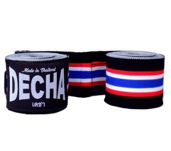 DECHA THAI FLAG BOXING HAND WRAPS DHW2 SEMI ELASTIC 180″ / 4.5 M