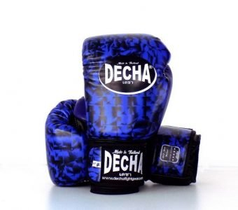 DECHA SPARRING MUAY THAI GLOVES LEATHER DBGFL20 BLACKBLUE