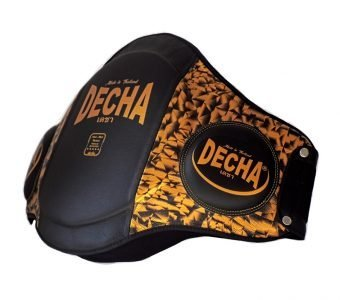 "DECHA DOUBLE PADDED ""High Protection"" MUAY THAI BELLY PADS DBPV4 PRISMA GOLD"