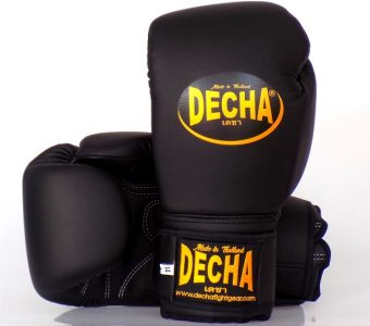 "DECHA ""PRO CLASS"" BOXING GLOVES DBGM14 SUPERIOR MICROFIBER BLACK"