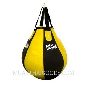 DECHA PRO TEAR DROP HEAVY PUNCHING BAG DHB10 BLACK/YELLOW
