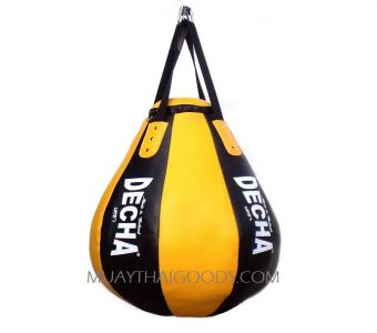 DECHA PRO TEAR DROP HEAVY PUNCHING BAG DHB10 BLACK/YELLOW ( Unfilled ) NEW !!!