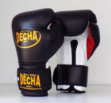 DECHA MEXICAN STYLE BOXING GLOVES DBGVL8 BLACK WHITE RED