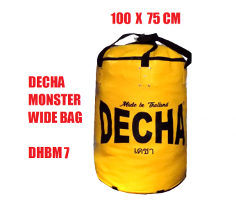 DECHA MONSTER WIDE HEAVY PUNCHING BAG  100 X 75 CM YELLOW (  UNFILLED ) DHBM7
