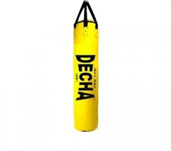 "NEW !! DECHA MUAY THAI BOXING PUNCHING BAG HEAVY DUTY 5ft YELLOW ( UNFILLED ) 150 x 40 cm "" ULTRA THICK "" PROFESSIONAL USE"