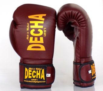 DECHA BOXING GLOVES DBGVL1 PRO PERFORMANCE 3.0 BURGUNDY/GOLD