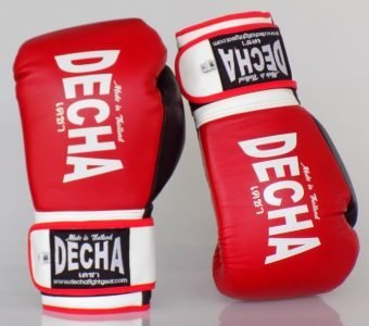 DECHA BOXING GLOVES PRO PERFORMANCE 3.0 RED / BLACK / WHITE