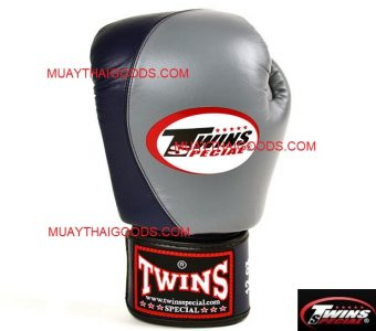 BGVL8 TWINS SPECIAL BOXING GLOVES GREY NAVY BLUE TWO TONE