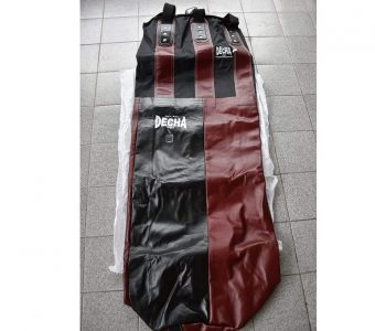 DECHA PUNCH BAGS 150 X 40 LEATHER / NYLON DOUBLE TONE burgundy / black